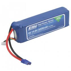 3200mAh 4S 14.8V 30C LiPo 12AWG EC3 (EFLB32004S30)