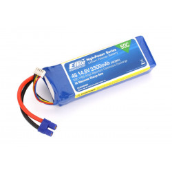 3300mAh 4S 14.8V 50C LiPo 12AWG EC3 (EFLB33004S50)