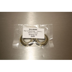 Pair of Bearings - 12mm x 24mm x 6mm (B089)
