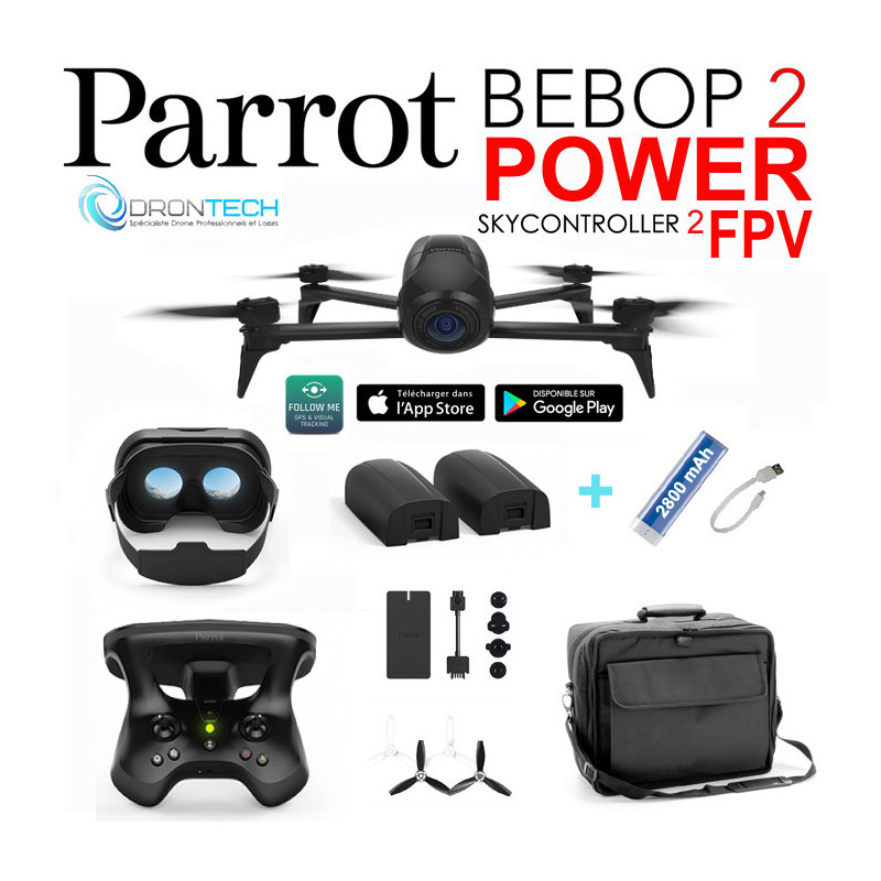 pa bb2pmilpw drone bebop 2 fpv power sac millenium. Black Bedroom Furniture Sets. Home Design Ideas