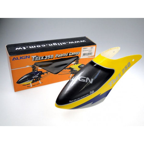 T-Rex 250 - 250 Painted Canopy/Yellow (H25001)