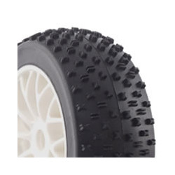FASTRAX 1/8TH PREMOUNTED BUGGY TYRES MATHS /10 SPOKE