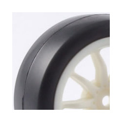 FASTRAX 1/10TH TOURING WHEEL/ SLICK TYRES 10-SPOKE WHITE