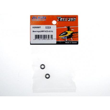 T-Rex 250 - Bearings(MR74ZZ-d3.5) (H25059T)