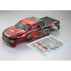 KILLERBODY RUBIK MT 1/10 FINIS HED BODY KNIGHT-RED PATTERN