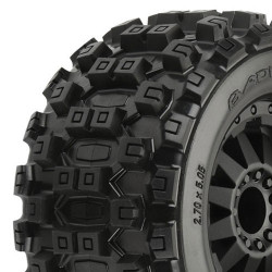 "PROLINE BADLANDS MX28 2.8"" All TERRAIN ON BLK F11 REAR WHEEL"""