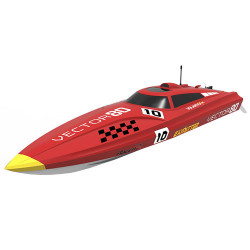 VOLANTEX VECTOR 80 BRUSHLESS BOAT READY SET (NO BATT)- RED