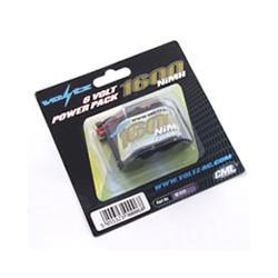 VOLTZ 1600mah 6.0V RECEIVER PACK HUMP(JR PLUG)
