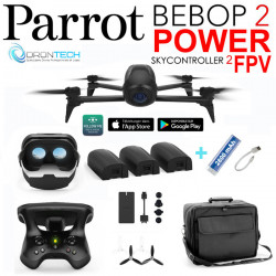Drone Bebop 2 POWER Pack FPV avec 3 Batteries +Sac de transport + Batterie externe de secours