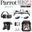 Pack FPV Bebop 2 Drone BLANC + Cockpitglasses + Skycontroller V2 + Batterie Blanche + Power Bank