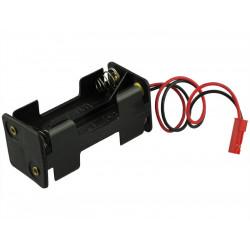 Boîtier de la batterie compatible avec JST BEC 4 x AA (600074)