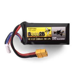 Batterie Lipo 4S 14.8v 1300mAh 20C pour FPV racer