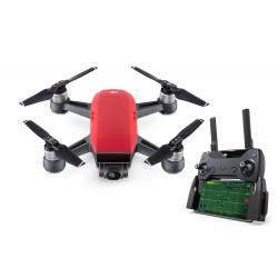 DJI Spark Mini Drone Fly More Combo Lava Red