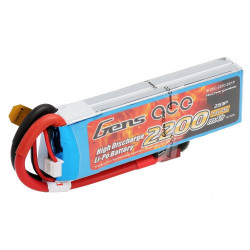 Gens ace 2200mAh 7.4V 25C 2S1P Lipo Battery Pack (B-25C-2200-2S1P)