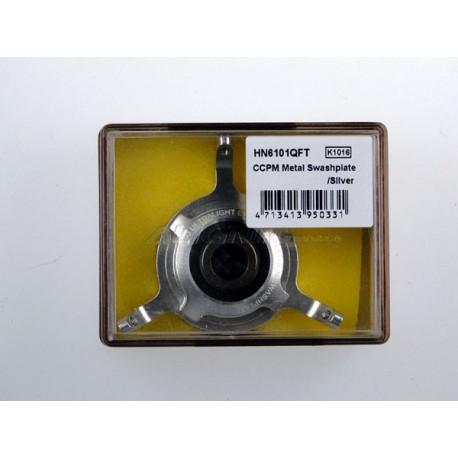 T-Rex 600 - CCPM Metal Swashplate/Silver (HN6101QF )