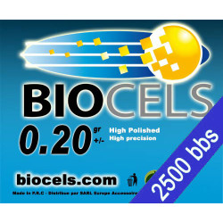 Lot of 28 - Biocels - BIO-Degradable 0.20g white bag of 2500 bbs