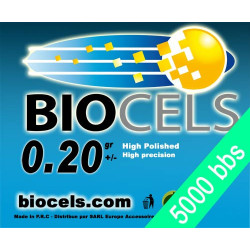 Lot of 56 - Biocels - BIO-Degradable 0.20g white bag of 5000 bbs