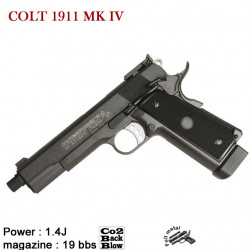 COLT 1911 MK IV GBB full metal 19BBs - GBB - Co2 - 6mm - 1.4 J.