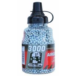 Billes acier 4.5mm/.177cal en bouteille de 3000 bbs