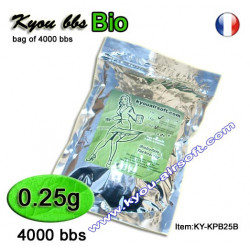 Kyou - KPB BIO 0.25g 1Kg. white (bag of 4000 bbs)