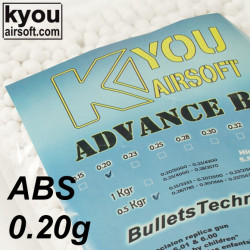 Kyou - ADVANCE ABS 0.20g 0.5Kg. white (bag of 2500 bbs)