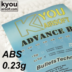 Kyou - ADVANCE ABS 0.23g 0.5Kg. white (bag of 2150 bbs)
