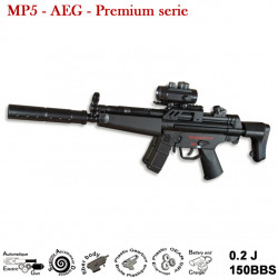 Type MP5 - AEG - 0.2J - 6 mm (Premium serie)