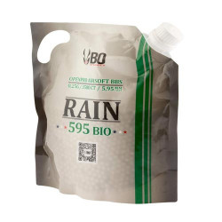 BO RAIN. Bille 0.25g blanche BIO - Sachet 3500 bbs