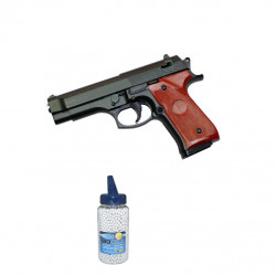 Small M9 Full Metal Black - 0.5J - Spring - PACK A