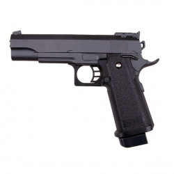 Hi-Capa Full Metal Black - 0.5J - Spring