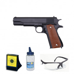 1911 Full Metal Black - 0.5J - Spring - PACK F