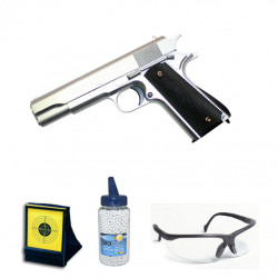 1911 Full Metal sliver - 0.5J - Spring - PACK F