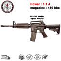 G&G - GR16 Carbine Plastic BlowBack - EGR-16P-CAR-BBB-NCM - BK - 1.1J