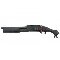 CYMA - Fusil a pompe spring type M870 Corsaire court ABS - Tri-Shot 6 mm - noir