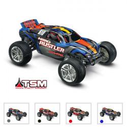 NITRO RUSTLER: 1/10 NITRO - 2WD STADIUM TRUCK - TSM (TRX44096-3)