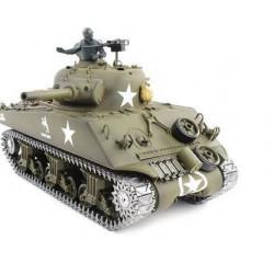 Tank RC 1/16e de M4A3 Sherman RC avec de la fumée, le bruit & bb gun - métal mise à niveau version pro