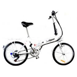 Z1 - Vélo Pliant Electrique Compact 7 Vitesses UK 20 - Blanc De Titane