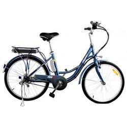 Z3 - Vélo de Ville Electrique 24 - Bleu Acier