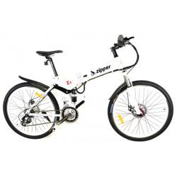 Z4 - Vélo Pliant Electrique de Montagne 21 Vitesses 26 - Blanc