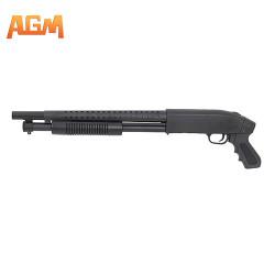 AGM - Fusil à pompe type M500 court - noir - 0,85 J - 6 mm