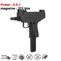IWI - UZI Pistol - 0.5J - AEG - 6mm