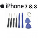 KIT OUTILS IPHONE 7 ou 8 TOURNEVIS OUVERTURE REPARATION