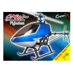 CopterX - CX 450PRO V3 Flybarless Torque Tube Version 2.4GHz RTF with 9ch TX and RX
