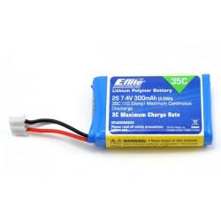 300mAh 2S 7.4V 35C LiPo Battery (EFLB3002S35)