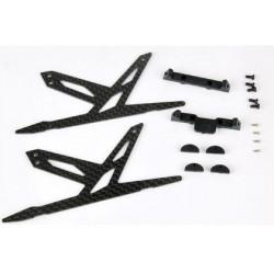 Carbon Landing Skid Set (Black) - Blade 130X