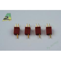 Connecteur micro dean plaqué OR (10pcs) (14130)