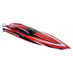 Spartan Brushless Boat 36inch with TQi 2.4Ghz Intelligent Radio System Red RTR (5707)