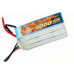 Gens ace 5000mAh 22.2V 60C 6S1P Lipo Battery Pack (B-60/120C-5000-6S1P)