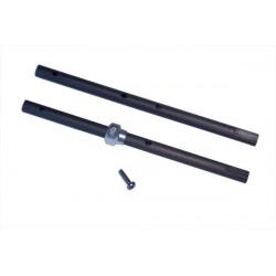 130 X upgrade Solid Carbon Main Shaft, Set 2 pcs (LX0303)