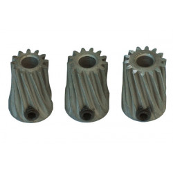 Pinion Slant Set X 3.17mm Diam. Motor Shaft 12T-13T-14T - MOD 0.5 Steel (LX0332) Lynx Upgrade